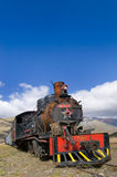 Abandoned Old Steam Locomotive. Old Steam Locomotive abandoned in Patagonia stock photo