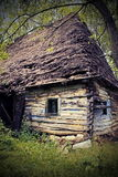 Abandoned old traditional romanian mountain house Royalty Free Stock Photo