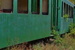 Abandoned old train stock image