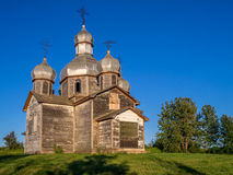 Abandoned old Ukrainian church Stock Photo