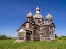 Abandoned old Ukrainian church Stock Photography