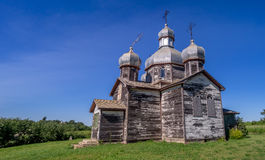 Abandoned old Ukrainian church Royalty Free Stock Photography