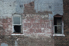 Abandoned Old Urban Brick Building Stock Photography