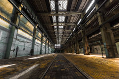 Abandoned old vehicle repair station, interior Stock Images