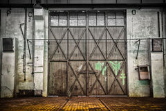Abandoned old vehicle repair station, interior Royalty Free Stock Image