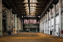 Abandoned old vehicle repair station interior Royalty Free Stock Photos