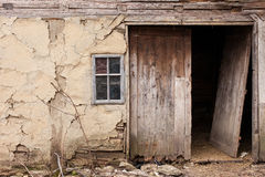 Abandoned old village house. High Details. Stock Image