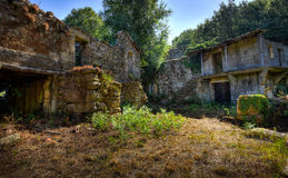 Abandoned old village in the mountains Royalty Free Stock Photos