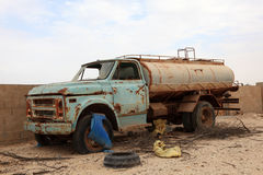 Abandoned old water truck Royalty Free Stock Image