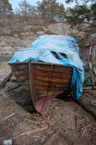 A abandoned old wooden boat Royalty Free Stock Photos