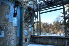 Abandoned operating room in Beelitz Royalty Free Stock Images