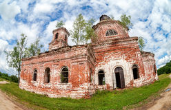 Abandoned orthodox church in Novgorod region, Russia Royalty Free Stock Image