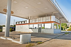 Abandoned Out of Business Gasoline Station Royalty Free Stock Photos