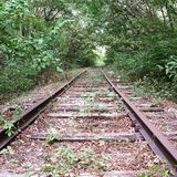 Abandoned. Out of use rails from a train in my home town Stock Photos