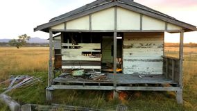 Abandoned outback farming shed in Queensland. Old abandoned outback farming shed in Queensland stock video footage
