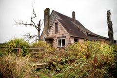 Abandoned overgrown house royalty free stock photo