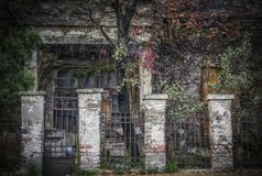 Ruined House in Autumn Stock Image