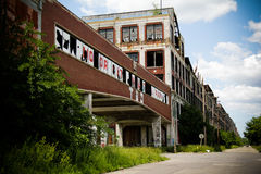Abandoned Packard Factory 5. The ruins of an automobile factory abandoned in 1956 . Packard plant in Detroit, Michigan Stock Photography