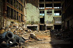 Abandoned Packard Factory 8 Royalty Free Stock Images