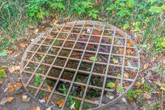 Abandoned well at Plan Bouchard Memorial Park and Ruines. Stock Image