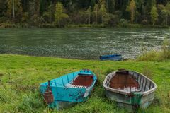 Abandoned pair of boats Stock Photography