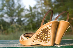 Abandoned pair of sandals Stock Photography