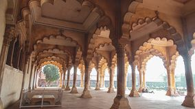 A building in Fatehpur Sikri, Agra, India stock image