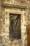Abandoned palace window. Ruined and  abandoned ancient palace window Agrigento  Sicily Royalty Free Stock Photos