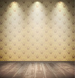 Abandoned pale room. Abandoned grungy pale room with wooden floor Royalty Free Stock Images