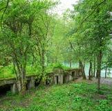 Abandoned parkerar nära sjön Riza Royaltyfria Bilder
