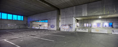 Abandoned parking garage Stock Photo
