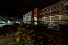 Abandoned and Partially Demolished Glass Factory - Wheeling, West Virginia royalty free stock image