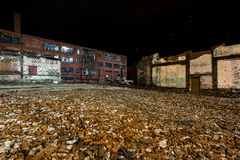 Abandoned and Partially Demolished Glass Factory - Wheeling, West Virginia royalty free stock photography
