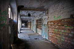 Abandoned passage. Abandoned dark passage of an old market place in Saint-Petersburg, Russia Stock Photography
