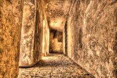 Abandoned passage at Prague Castle, Czech Republic Stock Photography