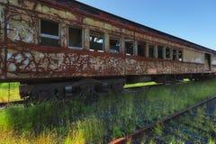 Abandoned Passenger Rail Car Royalty Free Stock Photos