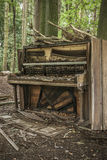 Abandoned Piano Stock Photo