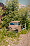 Abandoned pick-up truck in McCarthy in Alaska Stock Photo