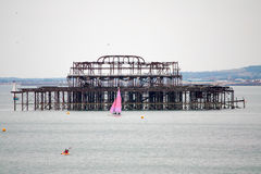 Abandoned Pier Stock Images