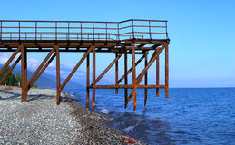 Abandoned pier Royalty Free Stock Photography