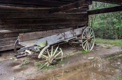 Abandoned Pioneer Wagon Royalty Free Stock Image