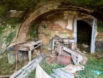 Abandoned place - old cellar Royalty Free Stock Photography