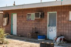 Abandoned place in Salton Sea royalty free stock photo