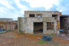 Abandoned place. View of an old, abandoned place royalty free stock photos