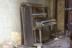 Abandoned player piano Stock Image