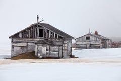 Abandoned polar station Royalty Free Stock Photography