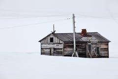 Abandoned polar station Royalty Free Stock Image