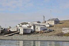 Abandoned polar station Stock Images