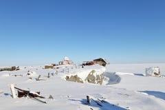 Abandoned polar station Stock Photography