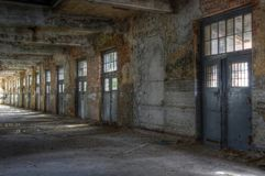 Abandoned post hall Royalty Free Stock Images